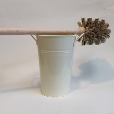 Ecoliving Large Wooden Toilet Brush And Bucket