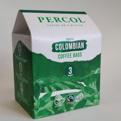 Percol Organic Columbian Coffee Bags 10X8