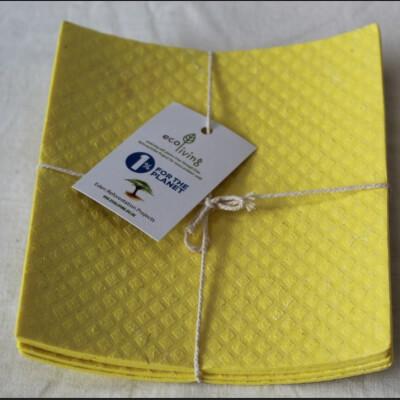 Ecoliving Compostable Sponge Cloths 4Pk