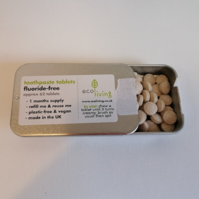 Ecoliving Toothpaste Tablets Without Flouride