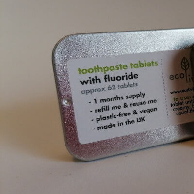 Ecoliving Toothpaste Tablets With Flouride