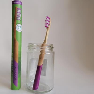 Bambooth Coral Pink Medium Toothbrush