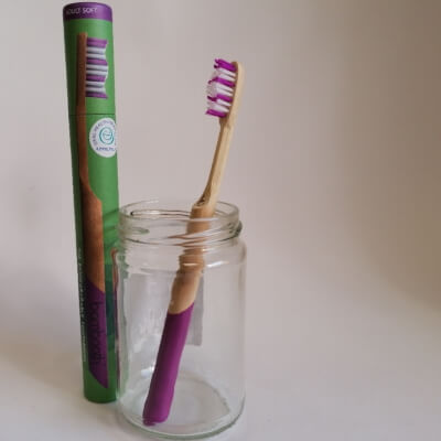 Bambooth Coral Pink Soft Toothbrush