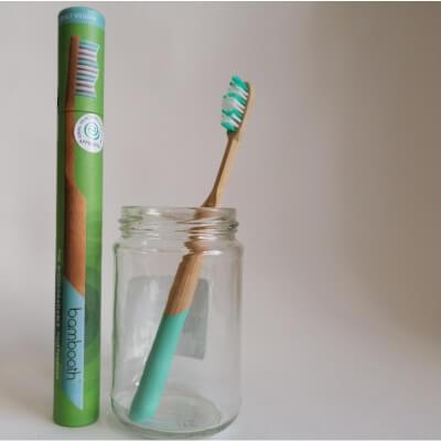 Bambooth Aqua Blue Medium Toothbrush