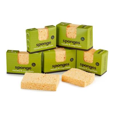 Ecoliving Compostable Sponge 2Pk