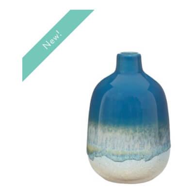 Mojave Blue Glaze Vase