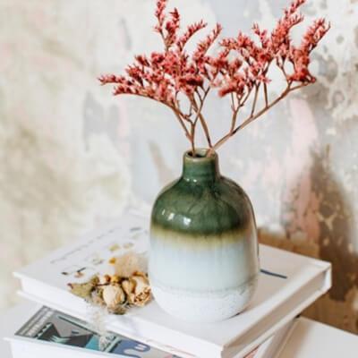 Mojave Green Glaze Vase