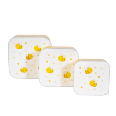 Bee Happy Lunch Boxes Set Of 3
