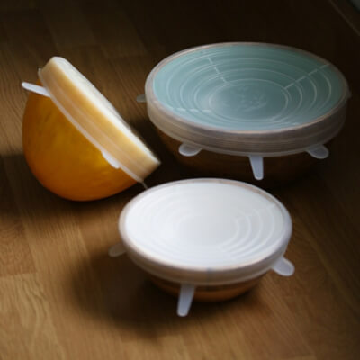 6 Silicone Lids To Cover Food