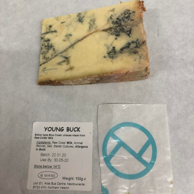 Young Buck - Blue Cows' Cheese - (150G) - Slice