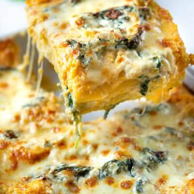 Large Butternut Squash Lasagne With Walnut  And Fresh Sage