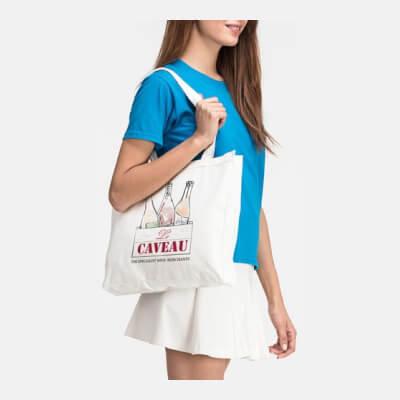 Large Deluxe Cotton 'Le Caveau' Tote Bag