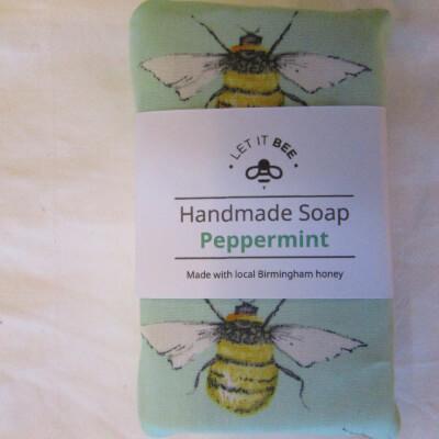 Medium  Honey & Peppermint Soap Over 100G