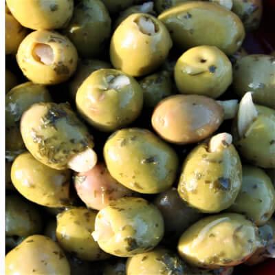Stuffed Garlic Olives