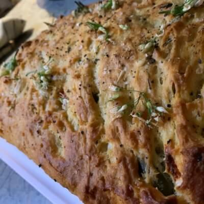 Wild Garlic & Chilli Focaccia