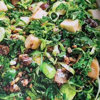 Kale, Sprout, Chestnut & Tofu Salad