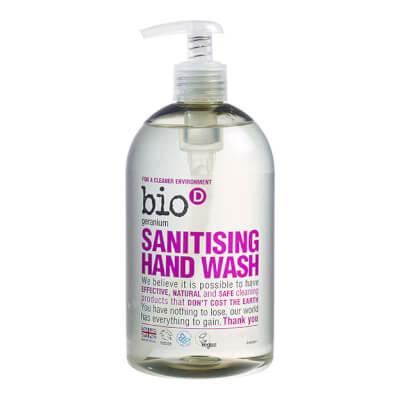 Bio D Geranium Sanitising Hand Wash Refill & Bottle