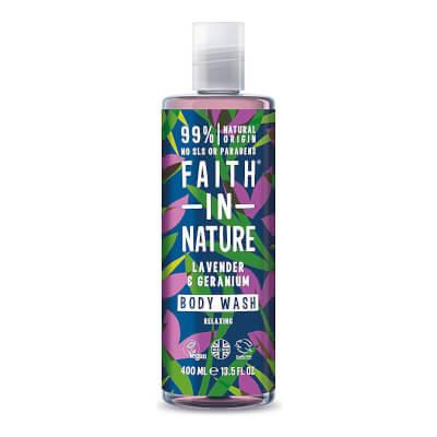 Faith In Nature Lavender & Geranium Body Wash Refill & Bottle