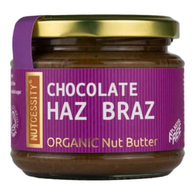 Organic Choc Haz Braz Butter 180G