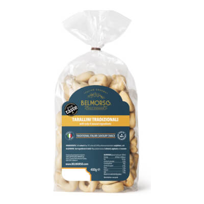 Belmorso Tarallini Tradizionali With Only 4 Natural Ingredients Bread Snack