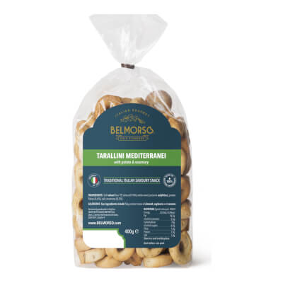 Belmorso Tarallini Mediterranei With Potato And Rosemary Bread Snack