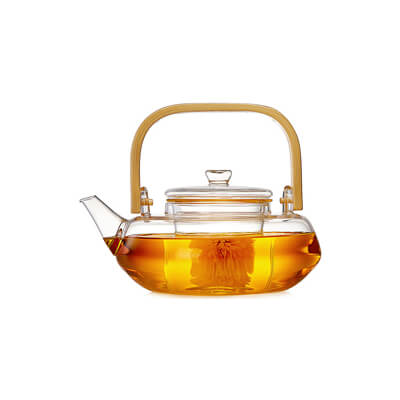 Glass Teapot With Bamboo Handle 800Ml