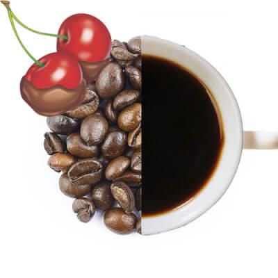Chocolate Cherry Flavoured Coffee Beans ( Medium Ground )