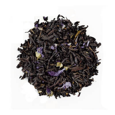 Black Tea Earl Grey With Blue Flower