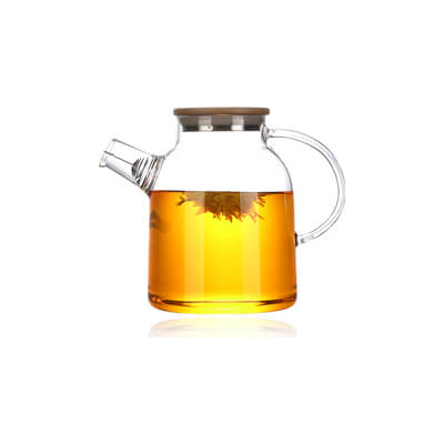 Large Glass Pitcher With Bamboo Lid 1.8 L