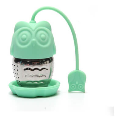 Stainless Steel With Silicon Tea Strainer 'Owl'