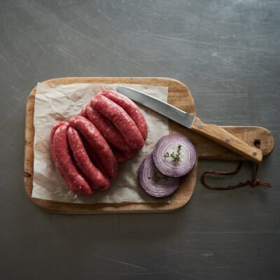 Steak And Caramelised Onion Sausages