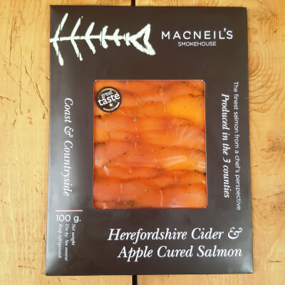 100G Herefordshire Cider Apple Cured Salmon