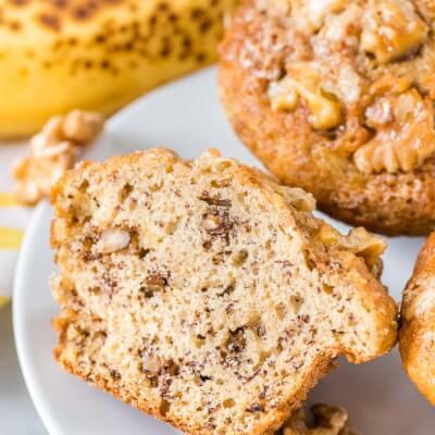 Healthy Walnut Banana Muffins