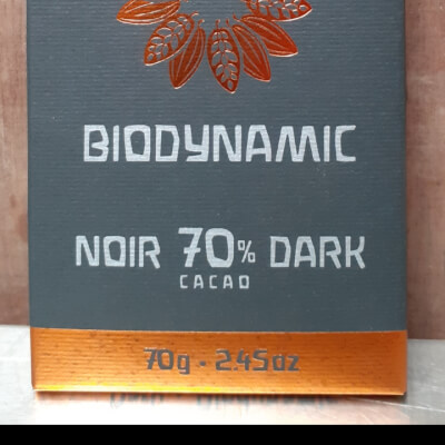 70% Cocoa Biodynamic Chocolate