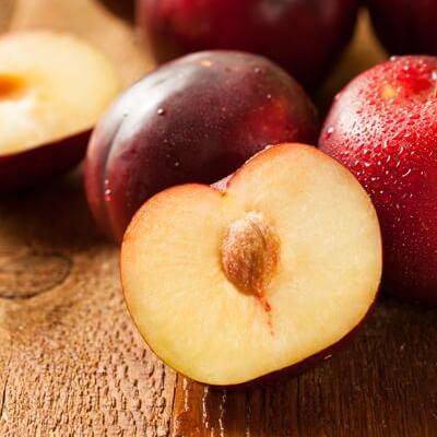 Delicious Black Plums, Certified Organic