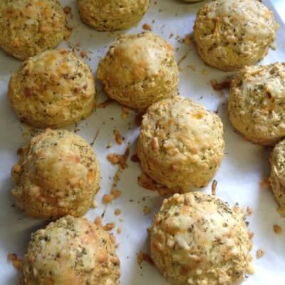 6 X Medium Cheese And Watercress Vegetarian Scones