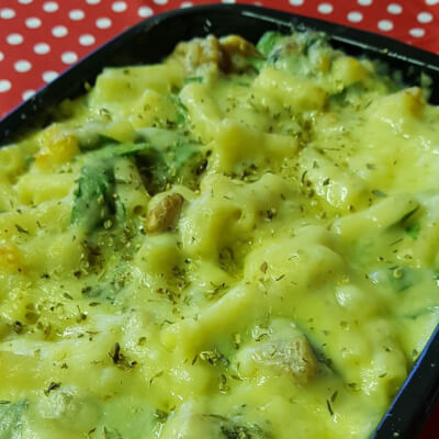 Spinach Stilton And Walnut Macaroni Cheese For Two