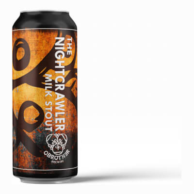The Nightcrawler - Milk Stout - Pack 4 X 440Ml Cans