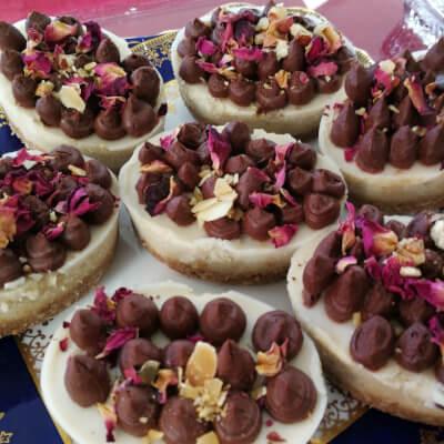 Dark Chocolate And Welsh Rose Vegan 'Cheese' Cake