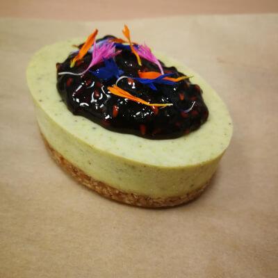 Pistachio And Raspberry Cheez Cake (Vegan)