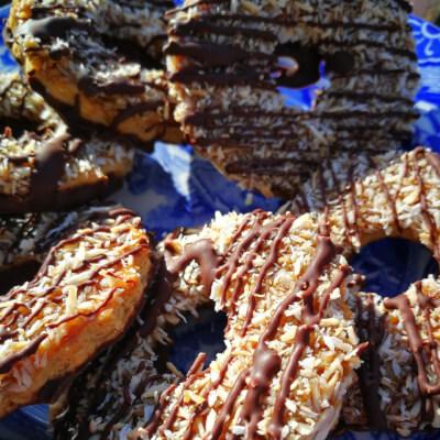 Salted Caramel Coconut Shortbread Rings