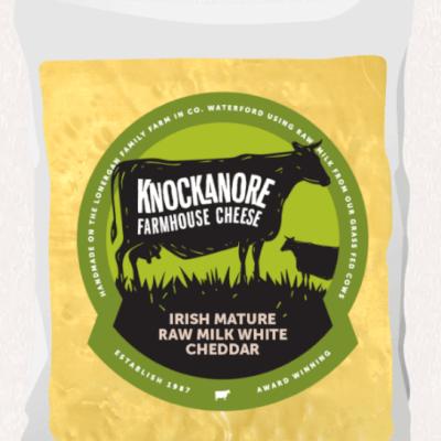 Knockanore Farmhouse Irish Mature Raw Milk White Cheddar
