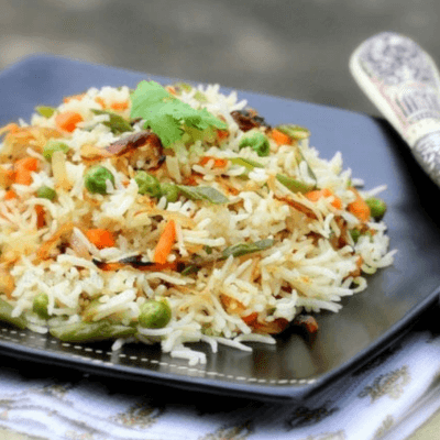 Royal Basmati Rice With Cumin And Baby Vegetables. Vegan. Serves 2 Generously.