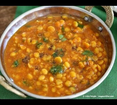 Dhal Cooked With Baby Spinach And Tempered With Aromatic Spices. Vegan