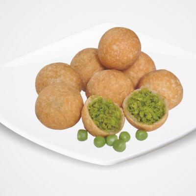 Handmade Kachoris Filled With Lentils And Peas. Vegan