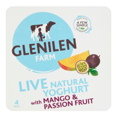 Mango & Passion Fruit & Natural Live Yoghurt | 4 X Pack
