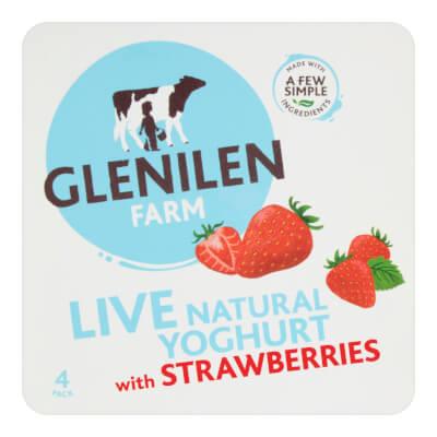 Strawberry & Natural Live Yoghurt | 4 X 125G