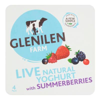 Summerberries & Natural Live Yoghurt | 4 X 125G