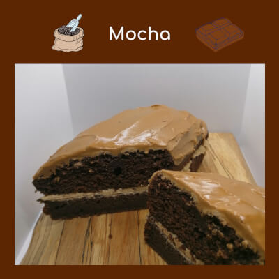 Mocha Cake With Icing