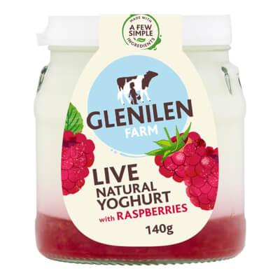 Raspberry & Natural Live Yoghurt | 140G Jar